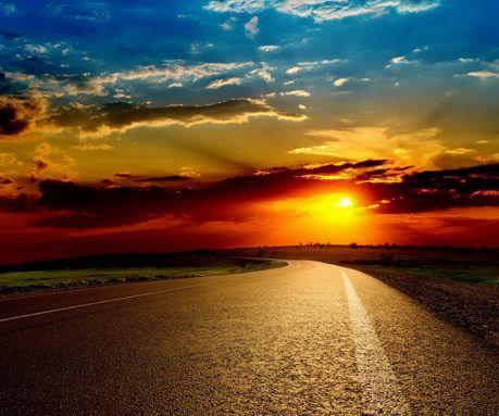 Sunset Road wallpaper   Wallpapers   Pinterest