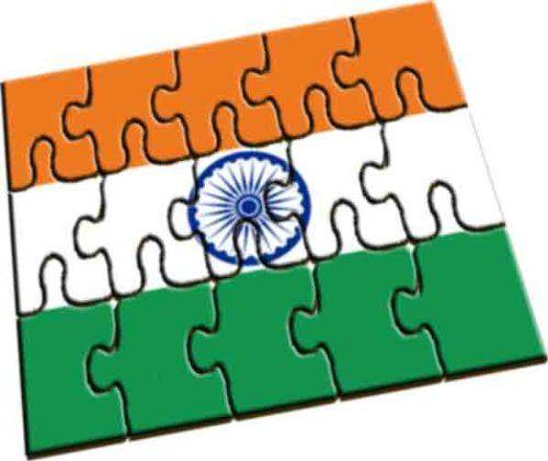 Cadeau personnalisé drapeau indien Puzzle en bois A5 | Your #1 Source for Toys and Games