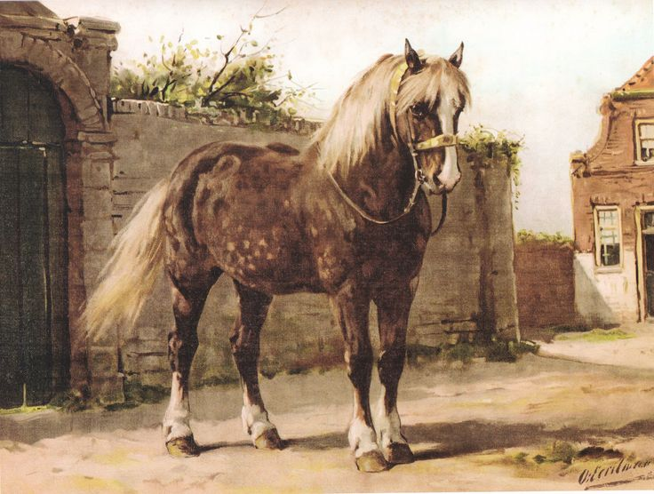 Het Zeeuwse paard, schilderij van Otto Eerelman