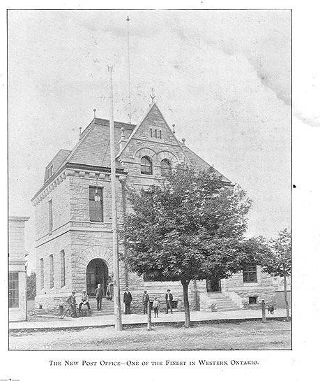 Goderich Post Office, Goderich, Ontario c.1897 #Goderich #RediscoverGoderich #VintageGoderich