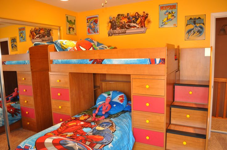 Disney avengers superhero bedroom decorating my disney decorating - Boys basement bedroom ...