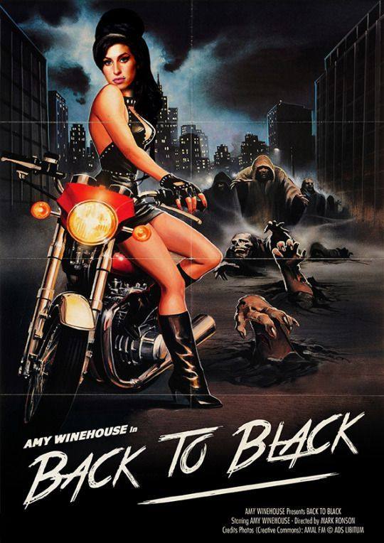 Best Film Posters : #ARTweLIKE: MusiXploitation by Ads Libitum [Gallery] Amy Winehouse Back to Black