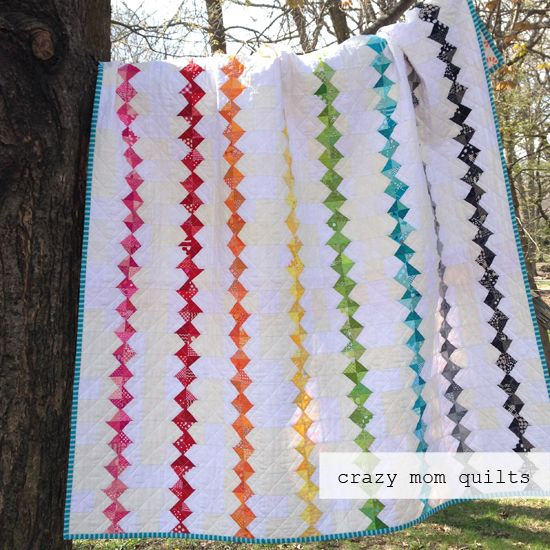 crazy mom quilts: chain of diamonds
