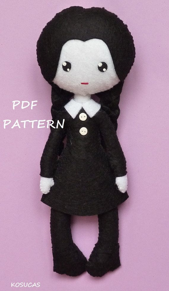 PDF sewing pattern to make felt Wednesday. by Kosucas on Etsy