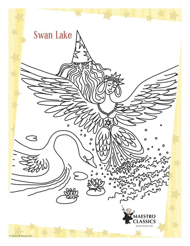 Free Swan Lake Printable Coloring Page