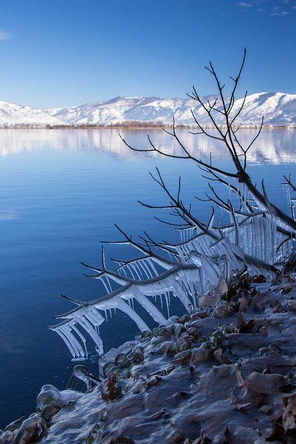 Kastoria lake Greece #WINTER