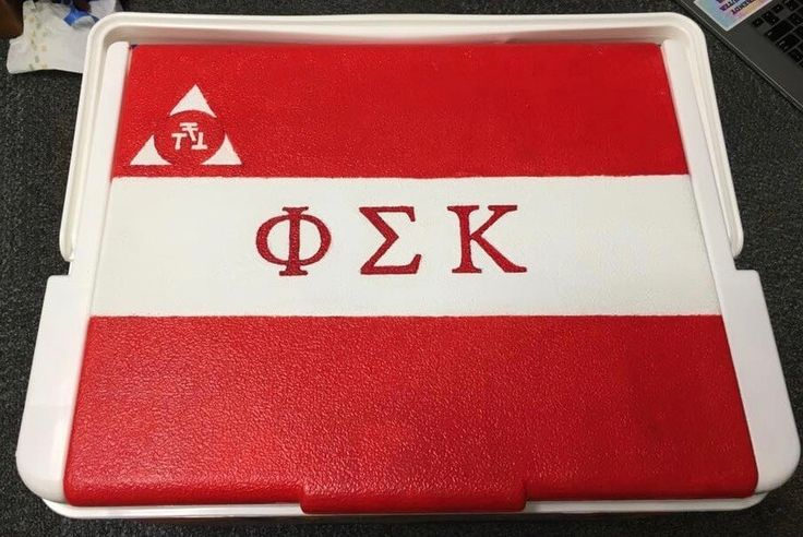 COOLERSbyU Painted Cooler Examples | PSK Flag  | Tags: psk, phi sigma kappa, fraternity flag, painted-cooler