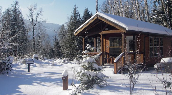Go discover winter cabins at our state parks camping for Washington state park cabins