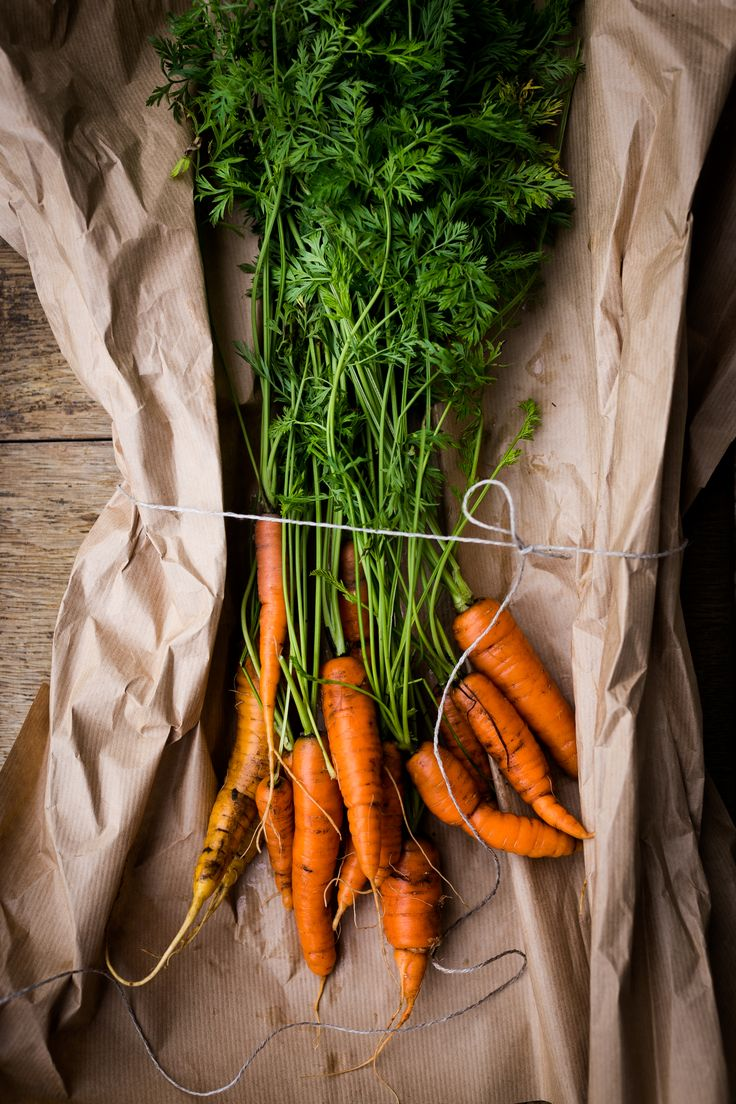 Fresh sweet carrots