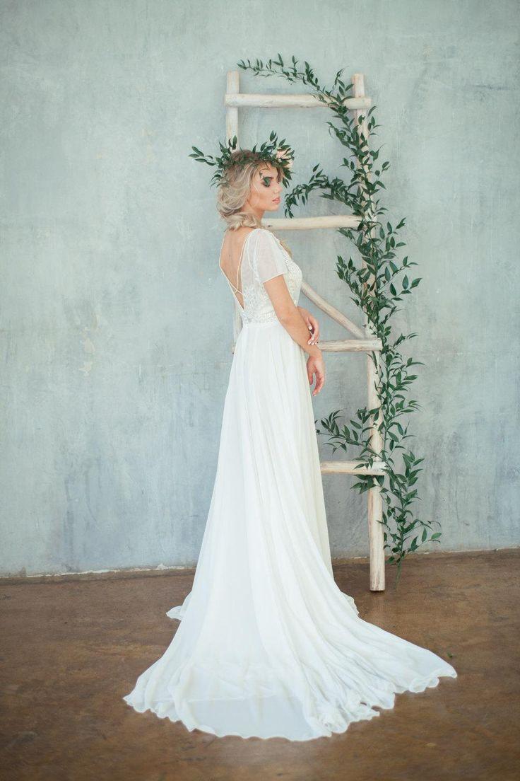51 best Chiffon Wedding Dress images on Pinterest