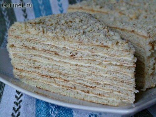 """Торт """"Сметанный"""" (на сковороде). Рецепт с фото. Пошаговые фотографии. Gurmel"""