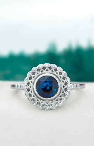 Sapphire engagement rings are a distinctive and vibrant choice. Shop more beautiful hues for the holidays. [Promotional Pin]