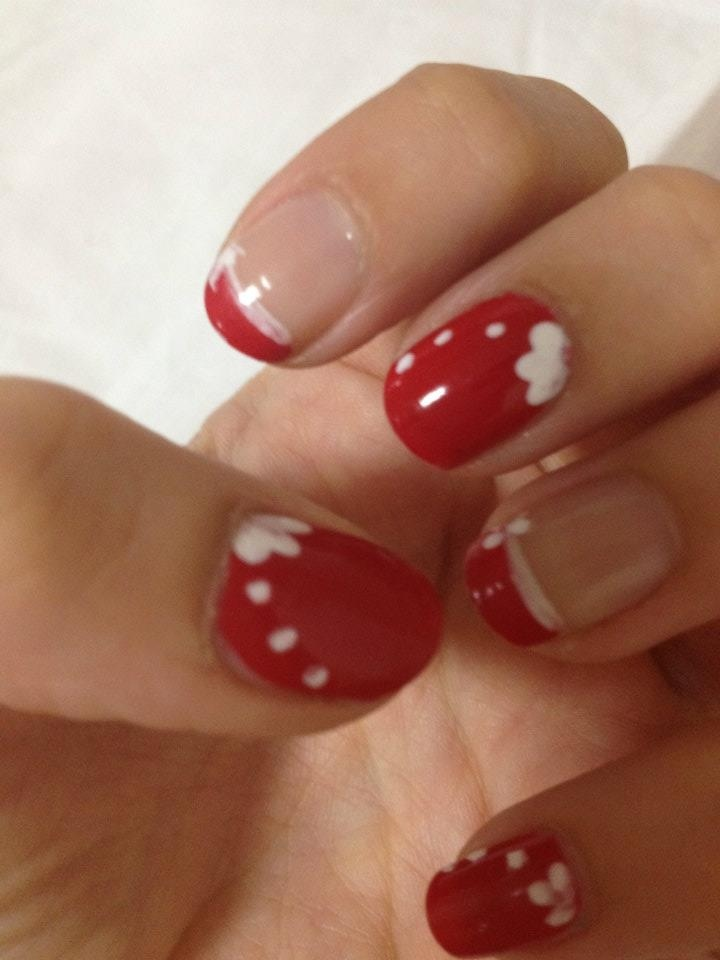 Red passion nail art <3 made by me
