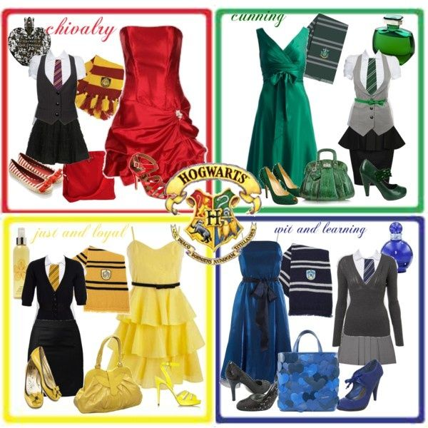 "polyvore hogwarts | Hogwarts Houses"" by kianthra on Polyvore 