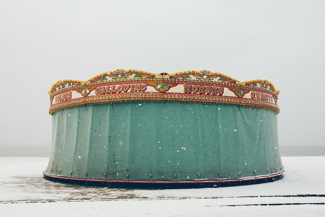 Brighton beach carousel in the snow | Flickr