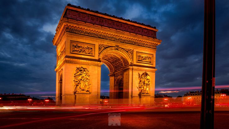 long Exposure HDR of Arc de Triomphe in Paris - long Exposure HDR of Arc de Triomphe in Paris France, taken with Pentax K1 on Tripod.   The Arc de Triomphe de l'Étoile (Triumphal Arch of the Star) is one of the most famous monuments in Paris. It stands in the centre of the Place Charles de Gaulle (originally named Place de l'Étoile), at the western end of the Champs-Élysées.[3] It should not be confused with a smaller arch, the Arc de Triomphe du Carrousel, which stands west of the Louvre…