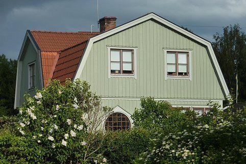 Bilder på vackra gröna hus