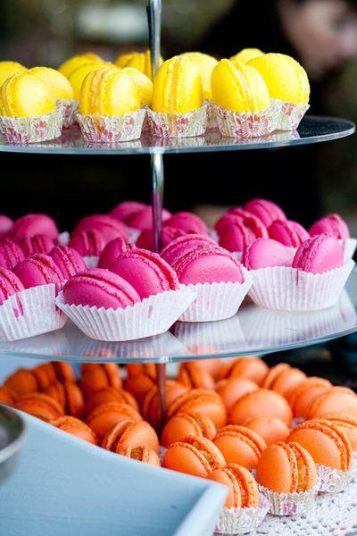Rainbow Macarons.