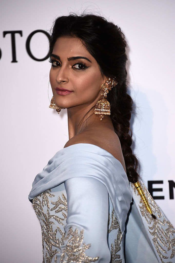 Sonam Kapoor Paired Couture With Traditional Indian Earrings And It Was Magical