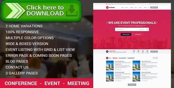 [ThemeForest]Free nulled download Event Management WordPress Theme from http://zippyfile.download/f.php?id=10906 Tags: booking, conference, event management, exhibition, fair, listing, multiple events, registration, tickets