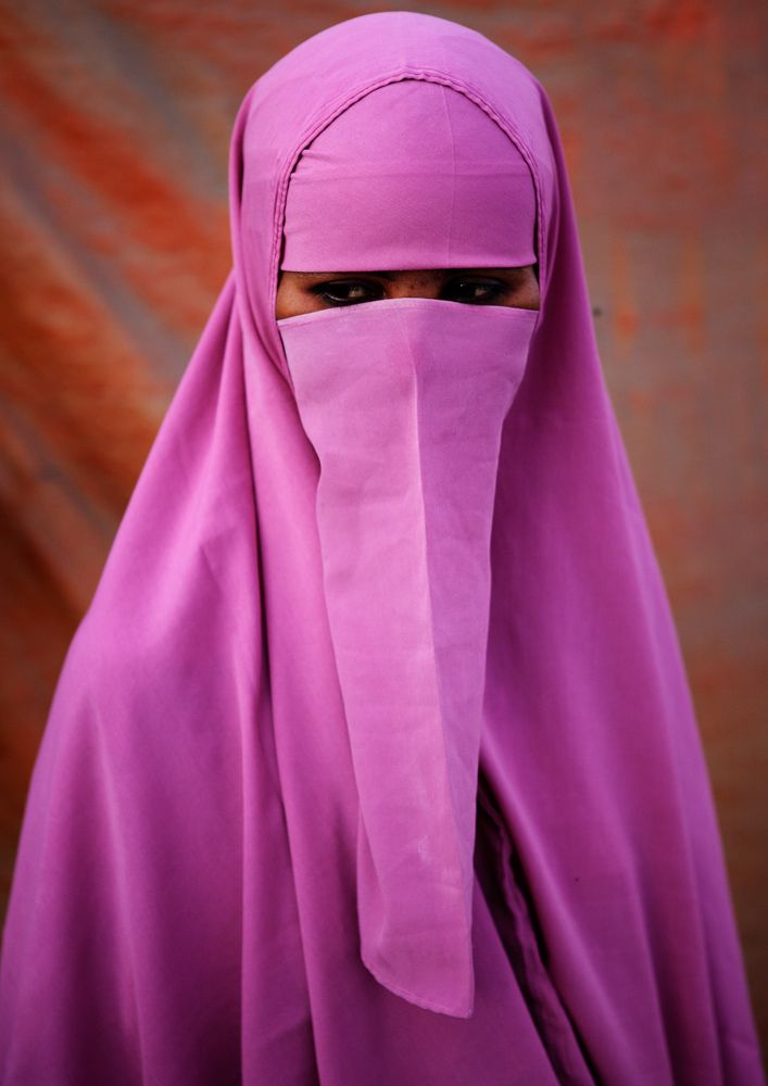 Africa | Portrait of a Muslim woman taken in Boorama, Woqooyi Galbeed, Somaliland | © Constantine James