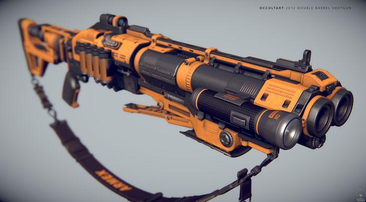 ArtStation - Dual Barrel Shotgun (NON-PBR), OccultArt _
