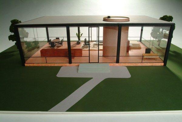 Glass House Model -                Philip Johnson