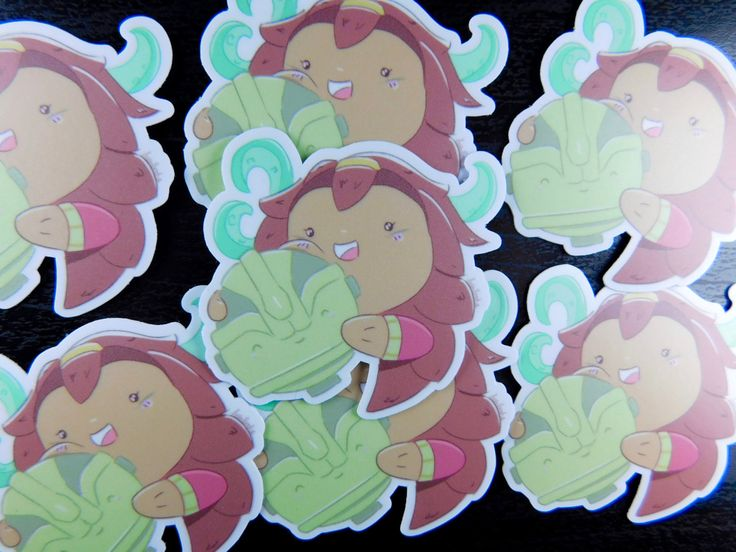 Illaoi League of Legends sticker for phone cases and as laptop decals LoL league champion kawaii gaming style, top lane champion! by BrodieInk on Etsy