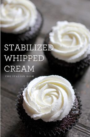 Stabilized Whipped Cream (Or use vanilla pudding powder. My secret. :)