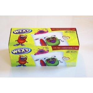 Wexy lunch bags for kids lunch boxes. Eco friendly, BPA free disposable or reusable.
