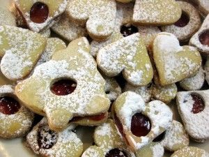 Slovak and Czech Christmas heart cookies - this is more of a shortbread dough ... maybe these are the cookies mom made?