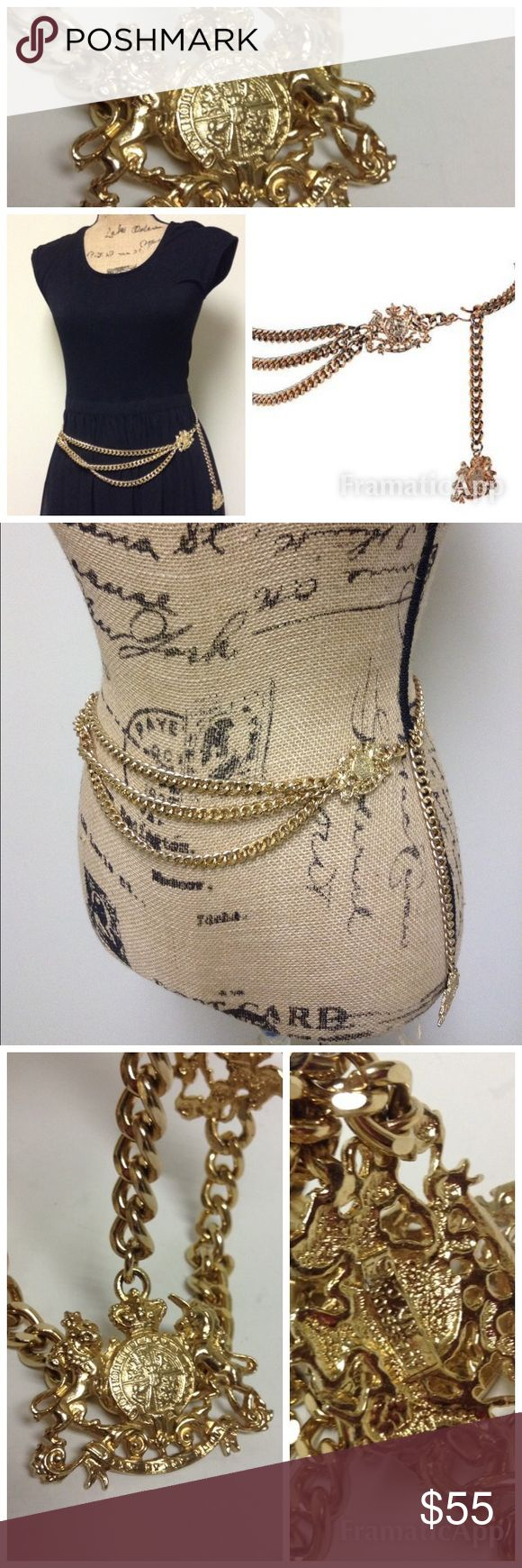 Accessorcraft N.Y.C Gold Chain Belt Accessorcraft N.Y.C Vintage Gold Tone Chain Belt with hook closer in excellent almost like new condition . Accessocraft N.Y.C Accessories Belts