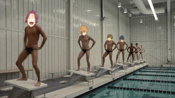 """i like how haru's like """"let's see how little i can participate in this foolishness and get away with"""""""