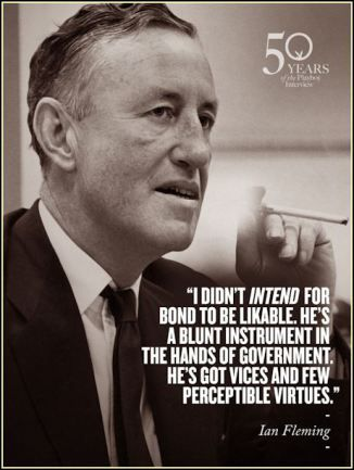 Ian Fleming, author and creator of James Bond was born today 28th May, 1908 in Mayfair, London