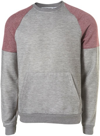 GREY RAGLAN SLEEVED SWEATSHIRT ($20-50) - Svpply