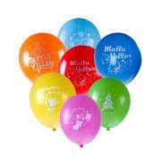 Yeni Yıl Yılbaşı İçin Mutlu Yıllar Baskılı Balon