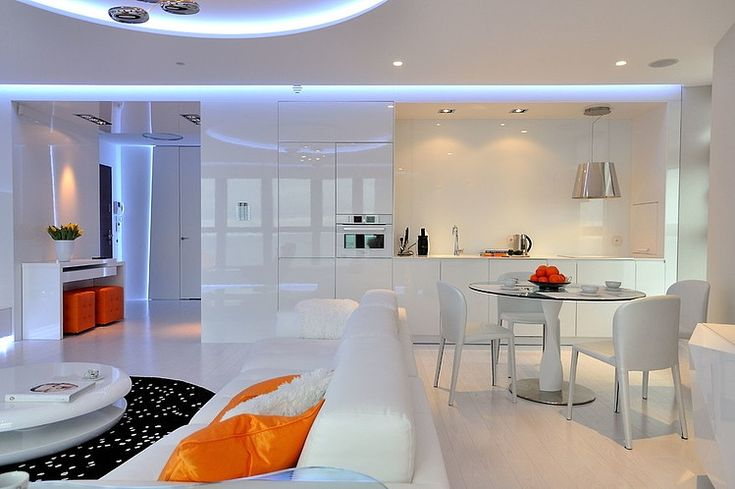 Designed in 2012 by NSWW, this amazing modern Sea Towers apartment is situated in the city of Gdynia, Poland.
