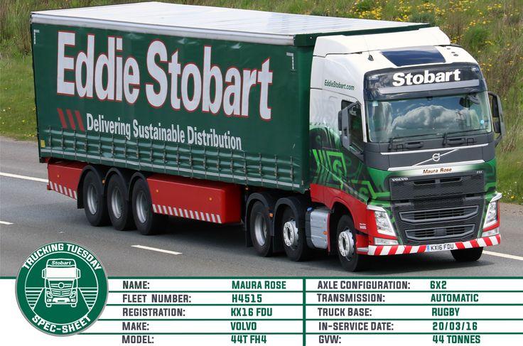 Welcome to this weeks #TruckingTuesday. This week we have Maura Rose #truck #eddiestobart #stobartgroup #16plate #volvofh #trucking #transport #logistics #distribution