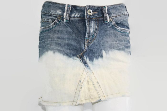 Silver Jeans Bleach Treated Mini Skirt -price reduced for Summer - - pinned by pin4etsy.com