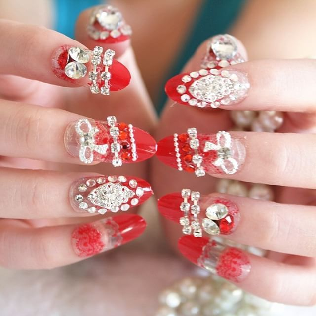 ���� Valentine ���� Code : INA 0008 Price : 190.000 WEDDING FAKE NAILS - KUKU PALSU PERNIKAHAN __________________________________ 1 set isi : �� 8 pcs kuku palsu cantik full motif 3D red & diamond �� 16 pcs kuku palsu cantik gradasi & glossy red �� Free 1 double tape untuk kuku palsu �� Free 1 nail buffer / kikiran kuku . . . . Grab it fast sisssss !! (^_^) __________________________________ �� BCA, Mandiri, NISP, BRI, BNI �� WA / SMS : 081809090907 �� LINE : jeemjessica �� LINE@ : @sqc4033p…