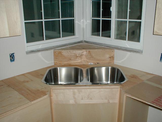 under construction corner sink shelf   { Kitchen . Dining ...