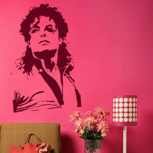 Large Michael Jackson Wall Stickers / Wall Decals / Huge Celebrity Wall Stickers NIC27. £19.99, via Etsy.