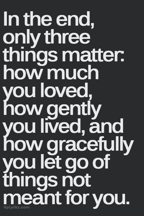 Love this, especially the part about gracefully letting go of things...