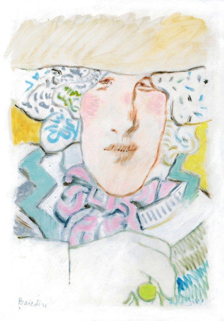Oscar Wilde, (olio su cartone), 2014 / Tullio Pericoli