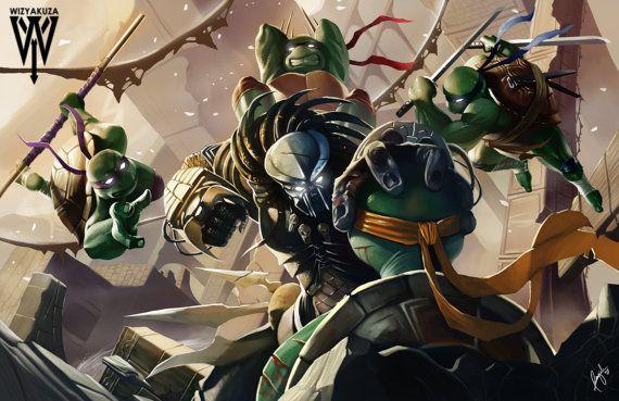 Teenage Mutant Ninja Turtles vs. Predator Film by Wizyakuza