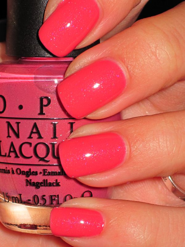 O.P.I - My Address is Hollywood - Summer Winter whenever this is the only color i wear on my fingers!