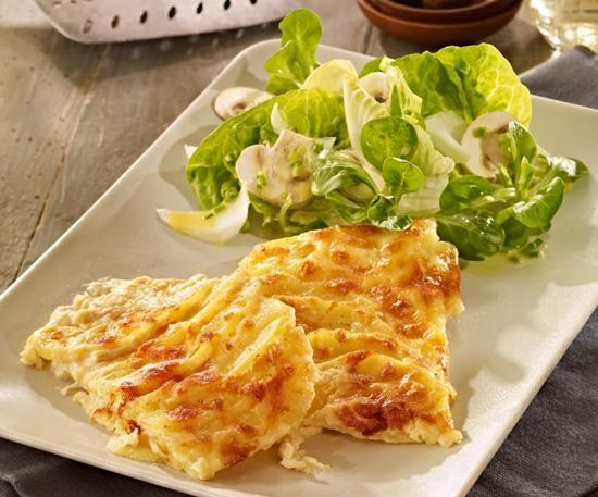 Sahniges Kartoffelgratin vom Blech Rezept | Dr. Oetker