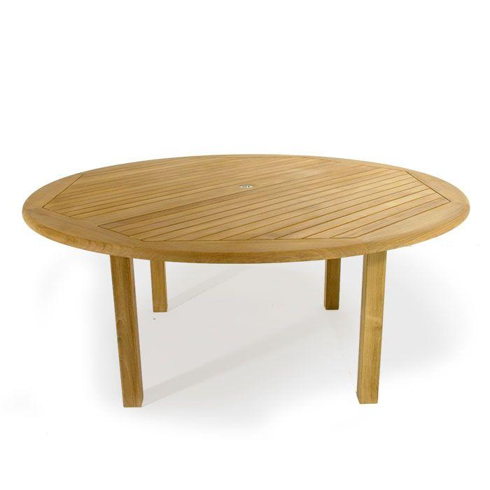 buckingham 6ft teak round patio table clearan