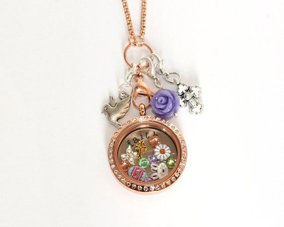 "Save 20% This Spring with offer code ""SPRING"" March - April 30th 2015! He Has Risen Easter Faith Spring Floating Locket and Charm Collection for Origami Owl or Glass Memory Lockets & Necklaces"