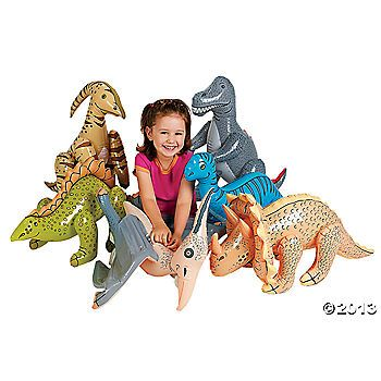 Inflatable Jumbo Dinosaurs.  6 dinos for $20.  The kids will love these for the dinosaur party